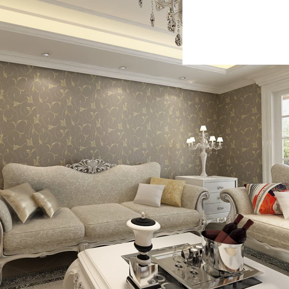 Warm Idyllic Bedroom Wallpaper Simple Non Woven Wallpapers Living Room Study Background Wall Papers Acanthus Wallpaper B Amazon Com