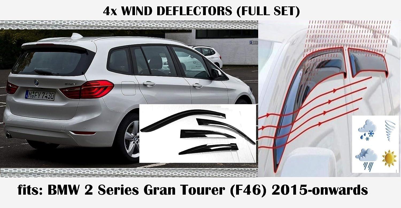 Oemm Windabweiser Kompatibel Mit Bmw 2er Serie F46 Gran Tourer Fensterabsteller 2015 2016 2017 2018 2019 2020 Acrylglas Seitenvisier Pmma Auto