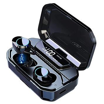 Belher Robotics Auriculares Inalambricos. Auriculares Bluetooth 4.2.Auriculares Inalambricos para iPhone y Android con Cargador Portátil y Reducción ...