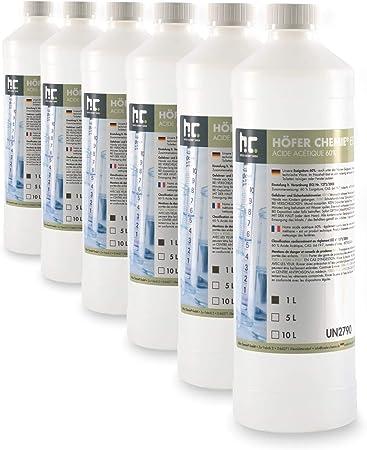 6 X 1 L Acide Acetique 60 Frais De Port Offert En Bouteilles De 1 L