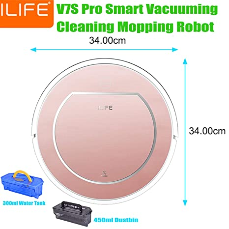 Image Unavailable. Image not available for. Color: FidgetFidget ILIFE V7S Pro Smart Automatic Robotic Vacuum ...