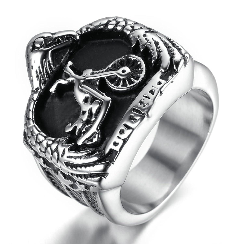 Adisaer Ring Stainless Steel For Men Vintage Finger Rings 20mm Eagle Black Silver Biker Size 813amazon: 20mm Cross Wedding Bands At Websimilar.org