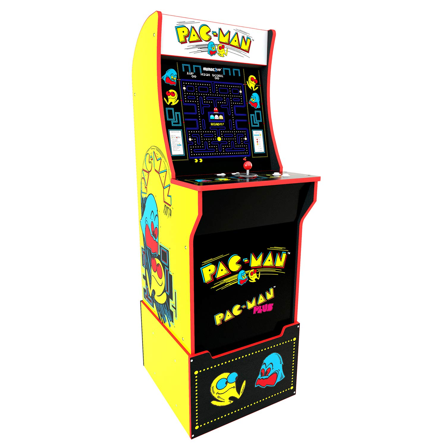Arcade 1Up Pac-Man Deluxe Arcade System with Riser, 5ft