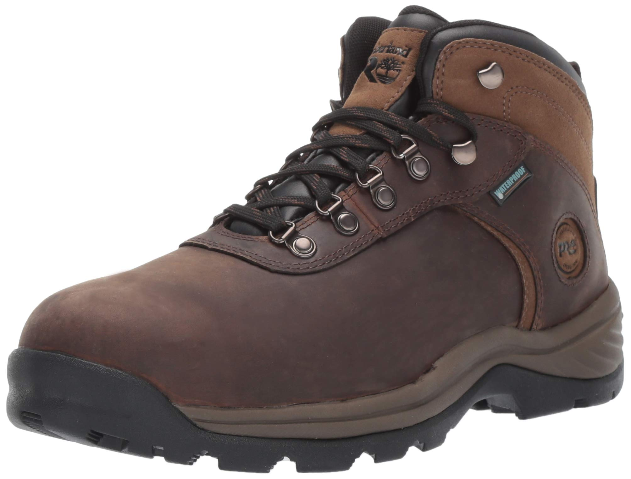 Timberland PRO Men's Flume Mid Steel Toe Waterproof Industrial Boot, Brown, 9.5 M US