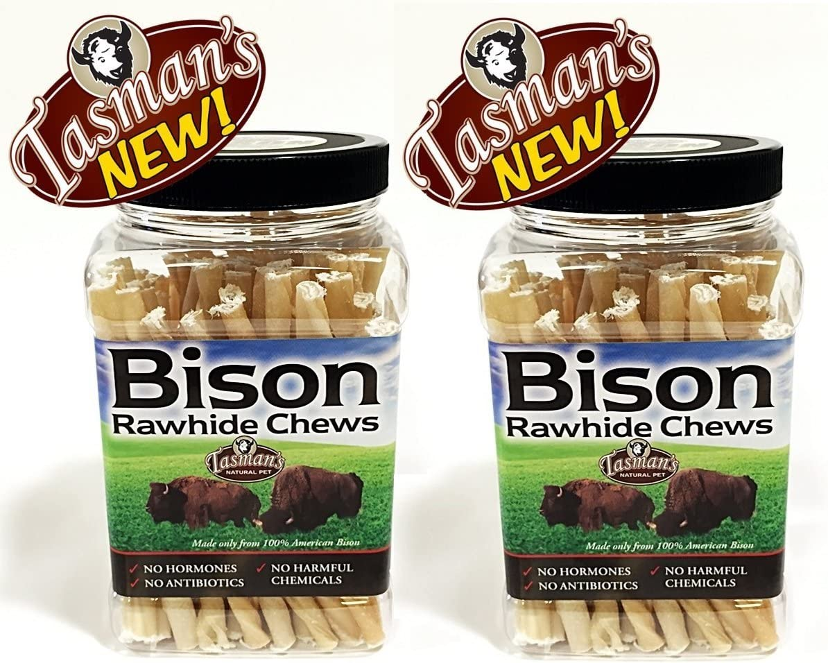 Tasman s Natural Pet 2 Pack of Small Bison Twisters, 75 Count Per Pack