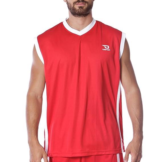 Dafor Camiseta Baloncesto Roja (Talla: 2XL)