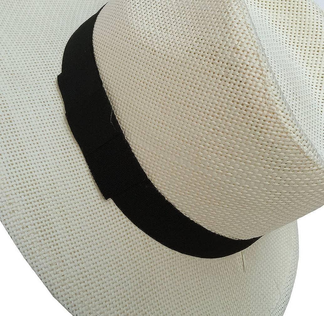 Jixin4you Women Mens Breathable Straw Sunhat Outdoor Beach Fedora Caps