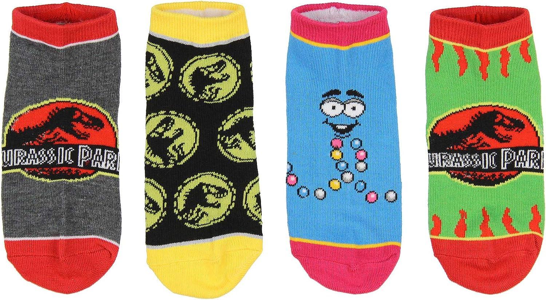 Jurassic Park Socks Kids T-Rex Dinosaur Jurassic World Ankle No Show Socks - 5 Pack For Boys Or Girls: Clothing