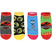 Jurassic Park Socks Kids T-Rex Dinosaur Jurassic World Ankle No Show Socks - 5 Pack For Boys Or Girls