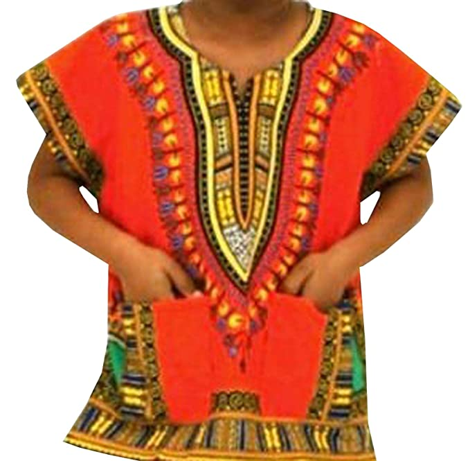 1fc838569 Image Unavailable. Image not available for. Color: Dashiki Shirt Boys  Hippie Top Unisex African Dashiki Girl Kids Wear Plus ...