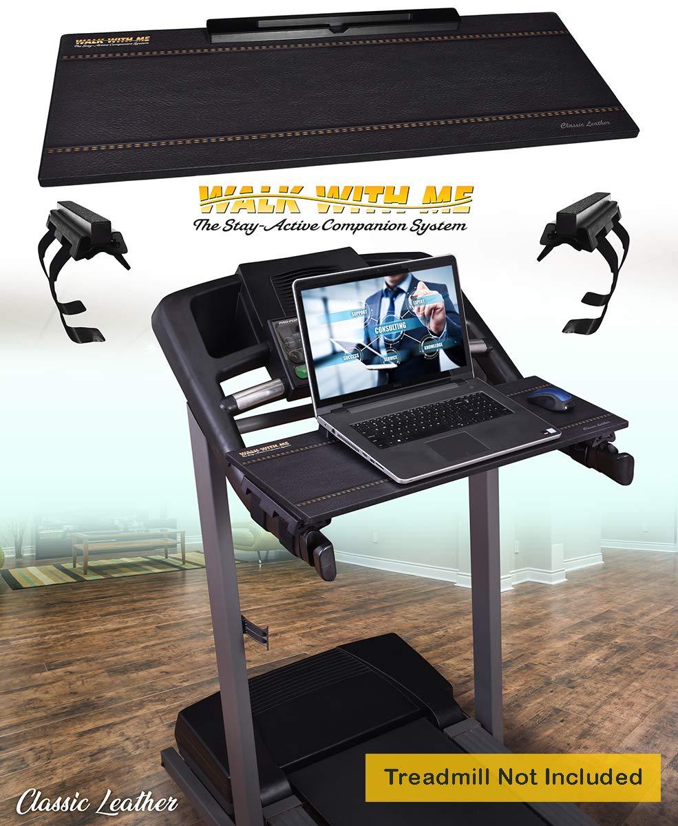 DigitalArts.ws Classic 32'' Walk with Me – Treadmill Desk Attachment - Leather Theme
