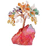 SUNYIK Natural Multicolor Crystal Money Tree