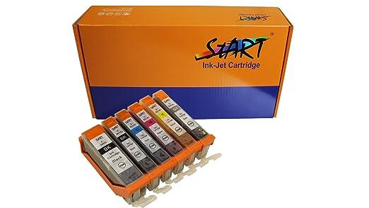1074 opinioni per Start- 6 XL CHIP Cartucce compatibili per Canon PGI-550BK XL Nero, CLI-551BK XL