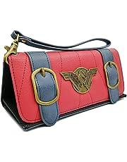 Women Wallets Compatible for Wonder Woman Tri-Fold Credit Card Holder Wallets Wriststrap Clutch