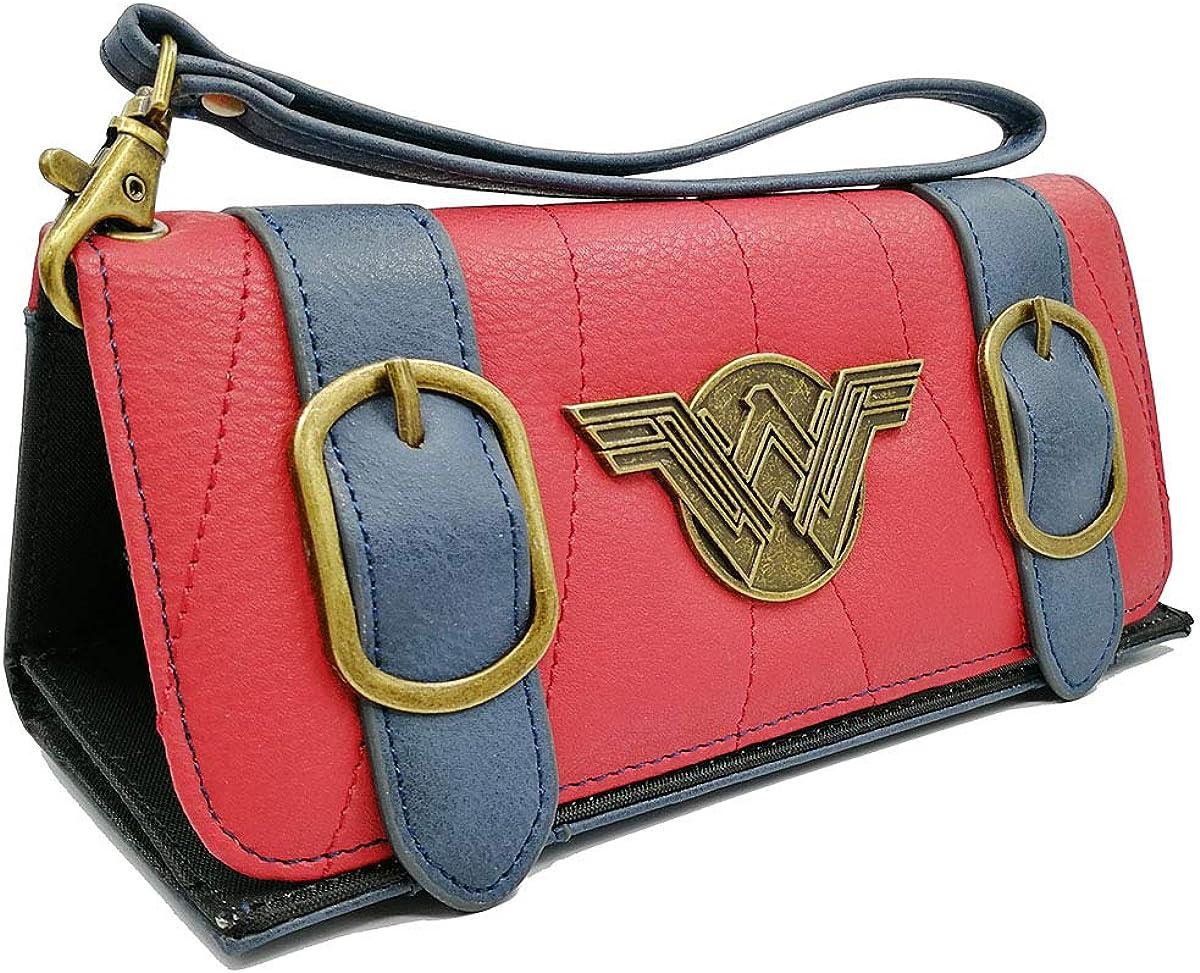 Wonder Woman Satchel Fold Womens Hand Purse Clutch Wallet
