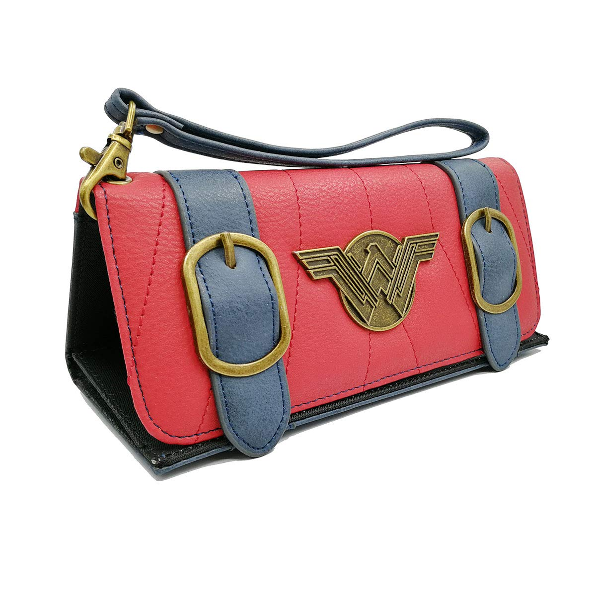 Tvoj poklon Women Tri-Fold Wrist Strap Clutch Wonder Woman Wallet Credit Card Holder
