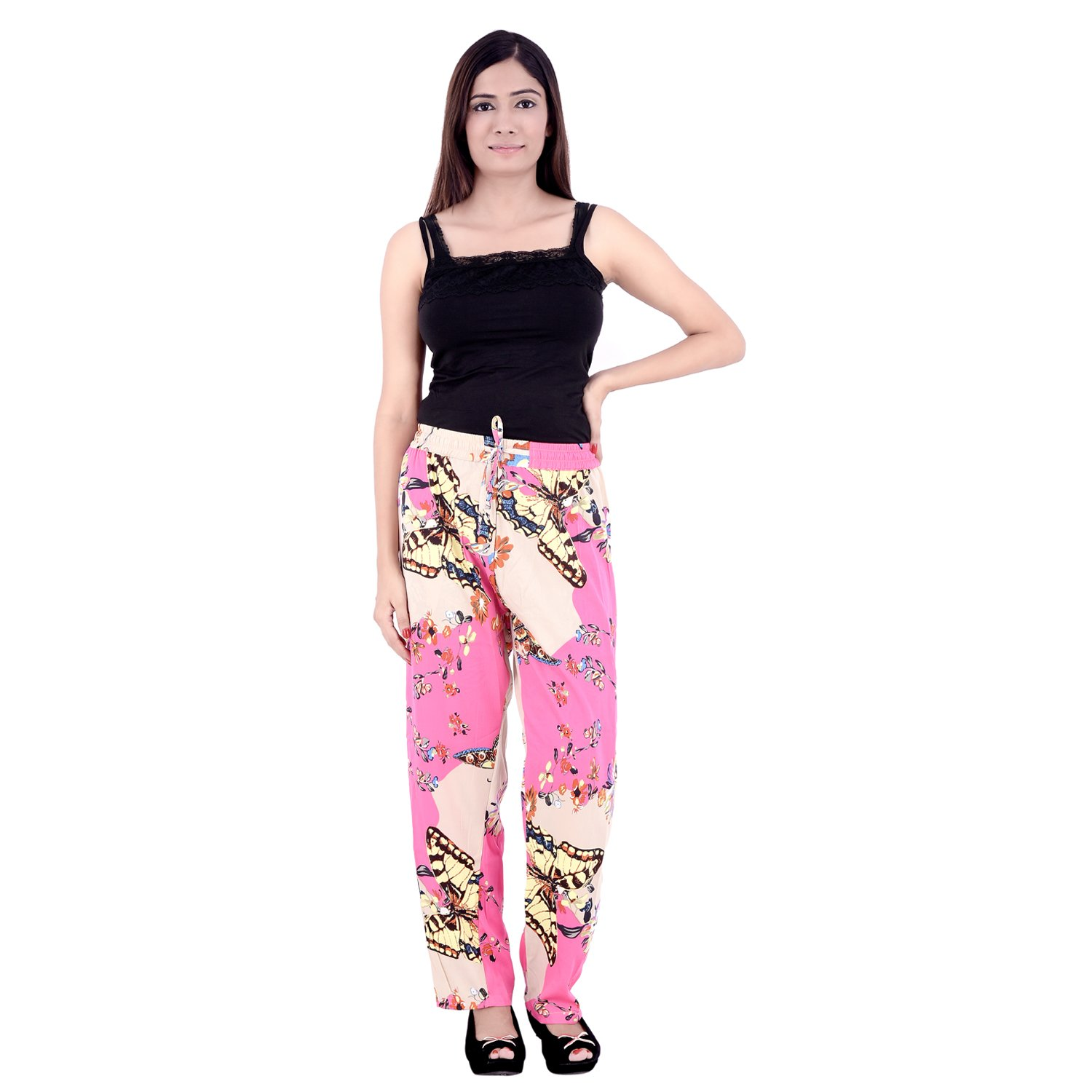 Designer Regular Fit Pink Women's Trouser
