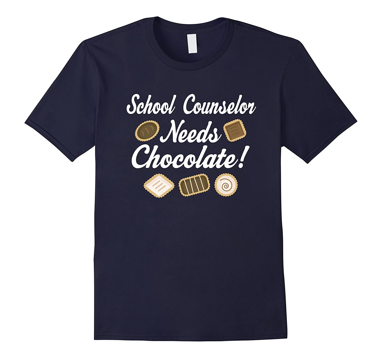 School Counselor Funny Chocolate Job T-shirt Gift-TD