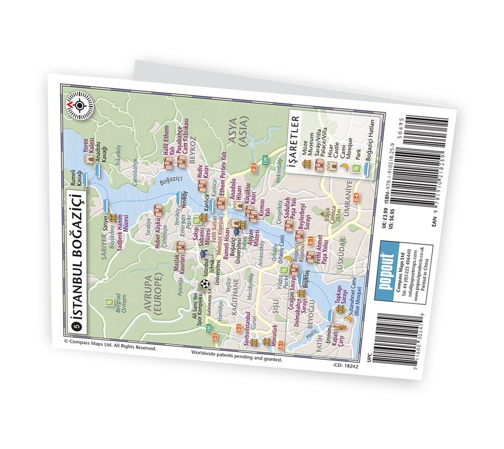Istanbul PopOut Map Handy Pocketsize Popup Map For Istanbul - Washington dc popout map