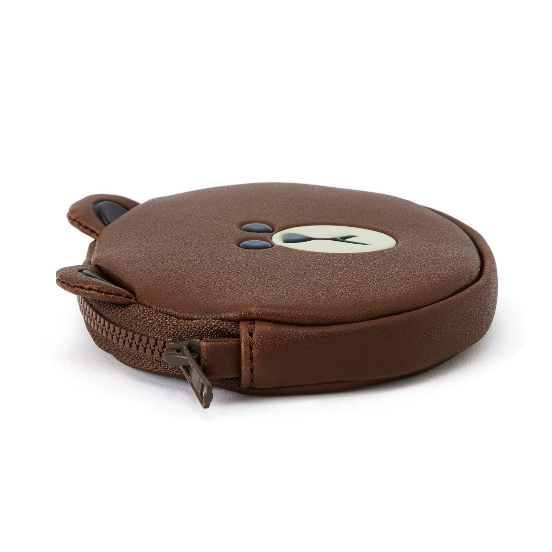 Amazon.com: LINE FRIENDS - Monedero de piel marrón, talla ...