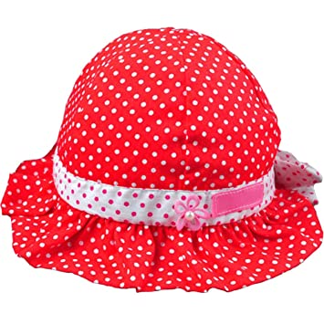 4b1c32b44fc3b Image Unavailable. Image not available for. Color: shot-in New Sweet Cute Baby  Girls Children Sun Polka Dot Summer Hats Caps 4
