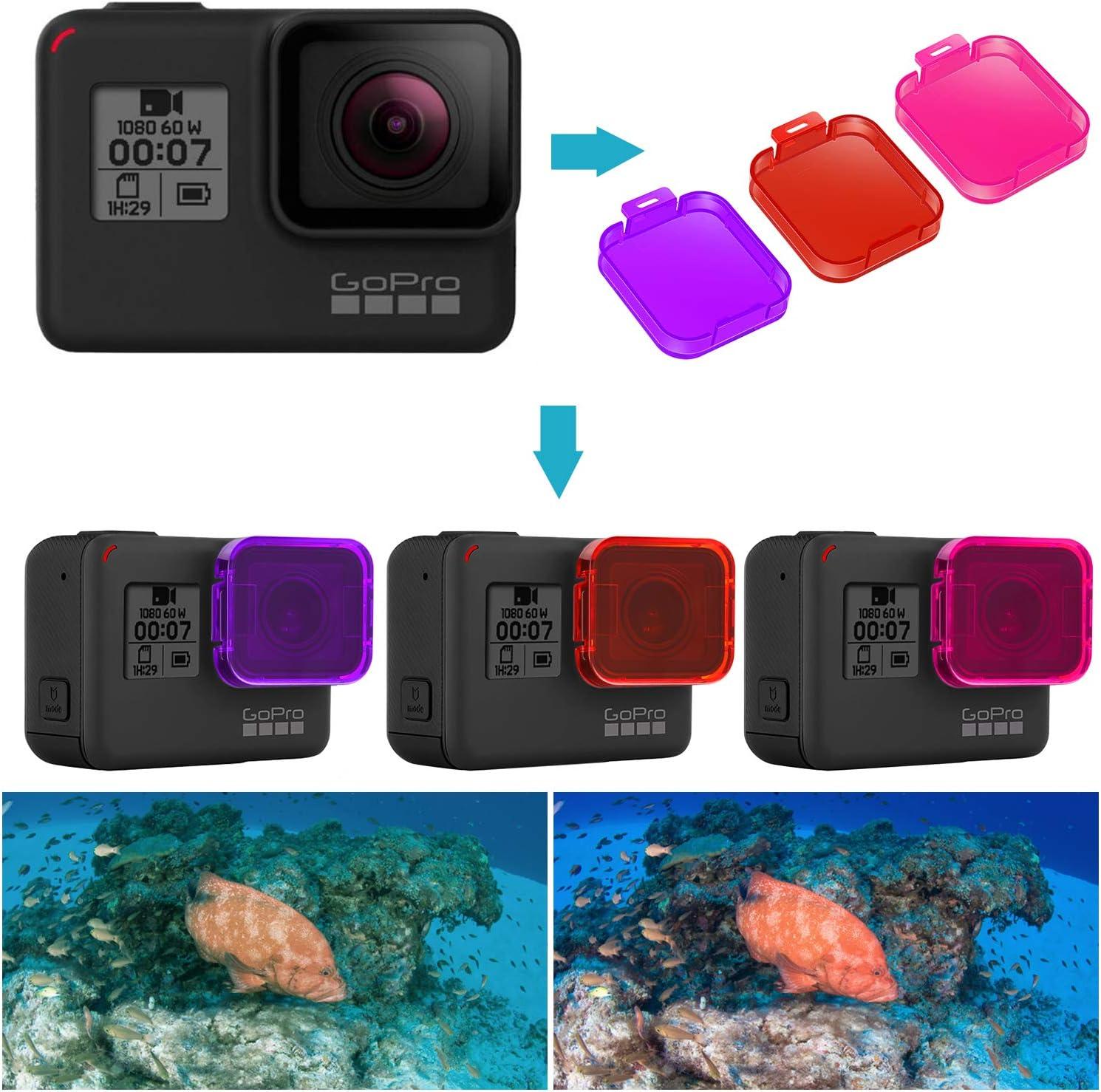 Neewer 3-Pack Kit Filtros Buceo para GoPro Hero 7/6/5: Amazon.es ...