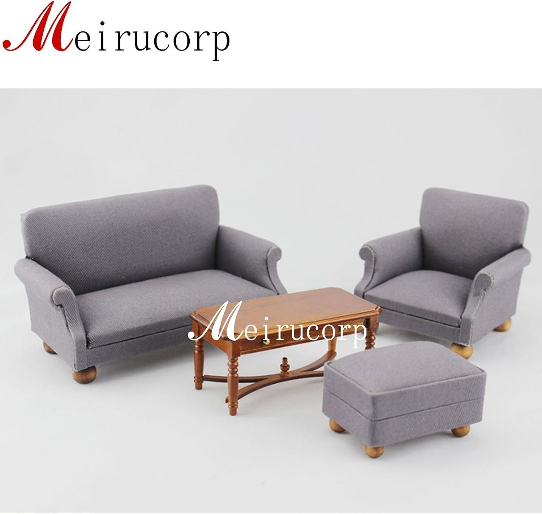 dollhouse miniature furniture Living room set 4 pcs for 1//12 scale