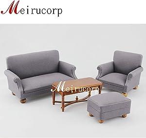 Meirucorp Fine 1:12 Scale Dollhouse Miniature Furniture Living Room Set Sofa Table