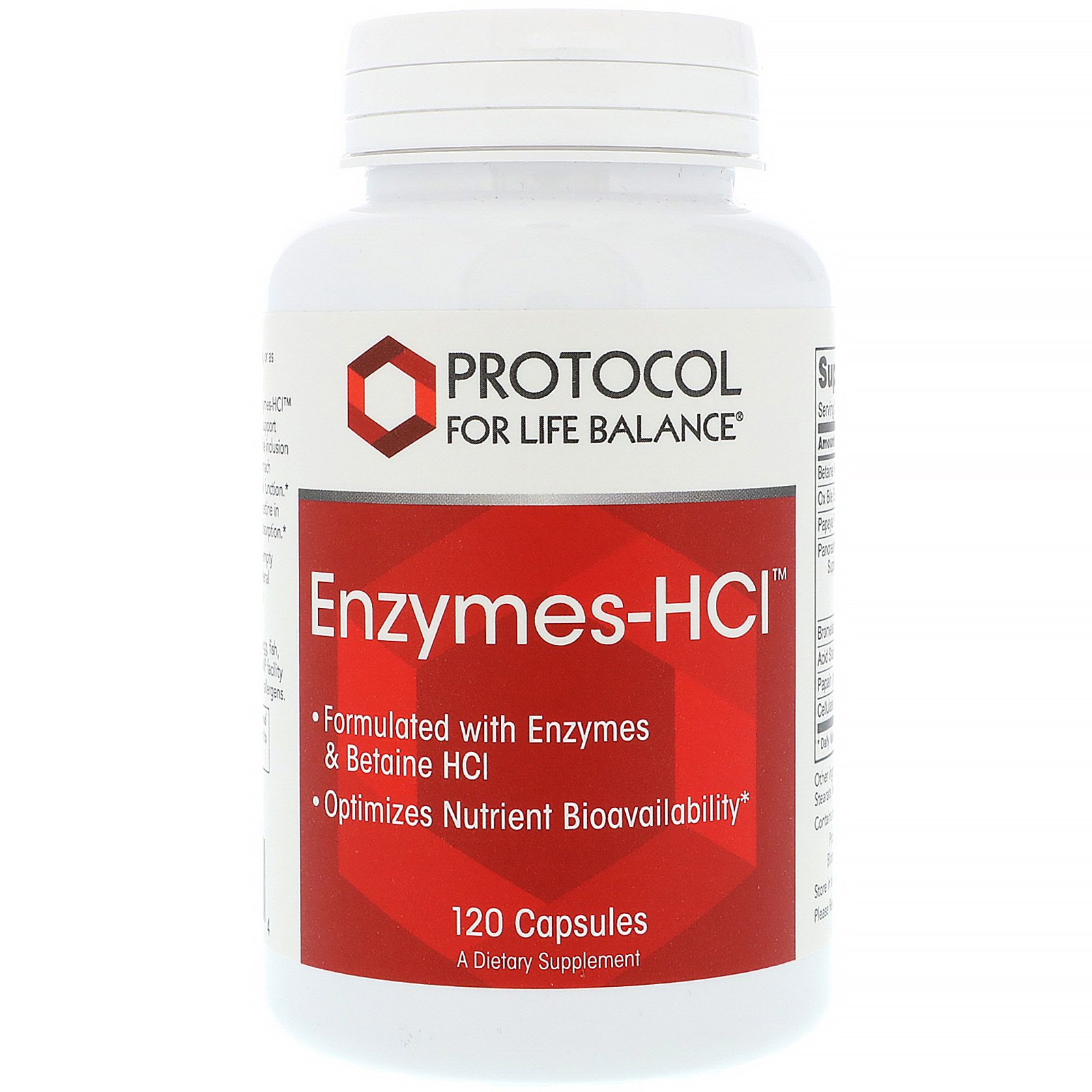 Protocol For Life Balance - Enzymes-HCl - Promotes Digestive Health,  Formulated with Enzymes