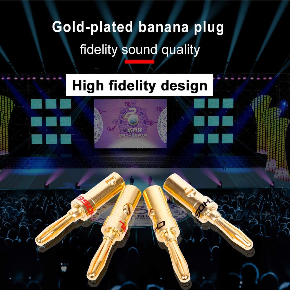 B07BFYMPB5 CHOSEAL QS6032 Banana Plugs DIY Speaker Cable Connector Gold Plated Screws Free Soldering Amplifier Plug 4Pcs/lot 61maZvieP9L