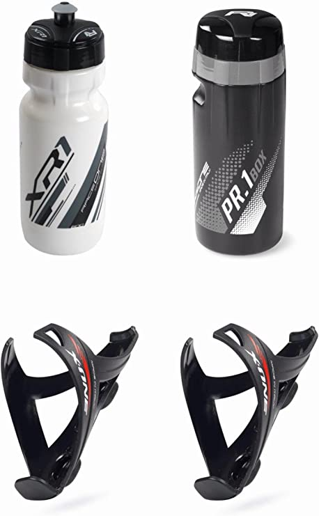 RaceOne.it - KIT MATT Race - 4 PCS - Bidón de ciclismo + 2 ...