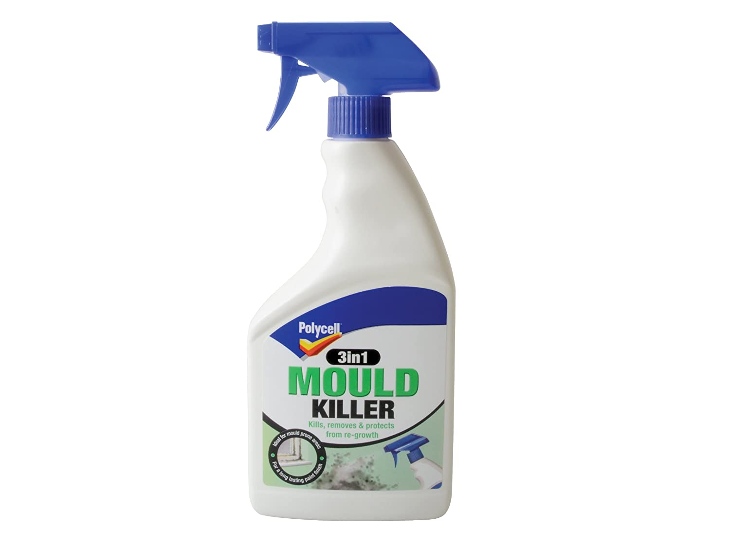 2X Polycell 3-in-1 Mould Killer Spray, 500 ml