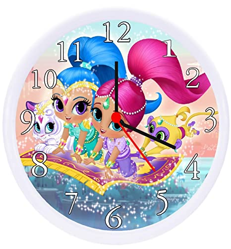 Amazoncom Rusch Shimmer And Shine Nickelodeon Wall Decor Clock