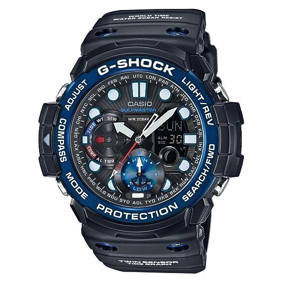 Casio Reloj Analógico para Hombre de Digital con Correa en Resina GN-1000B-1AER: Amazon.es: Relojes