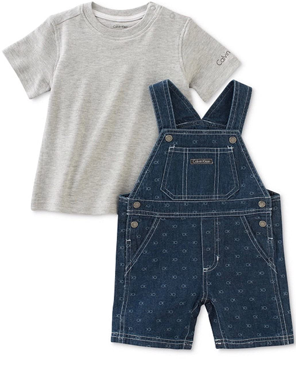 印象のデザイン Calvin Klein Baby Boys ' Boys 2-pc。Tシャツ&デニムShortall set-デニム Baby B06ZYW54GY B06ZYW54GY 12 Months, ごまのオニザキ:1fc6cdb5 --- svecha37.ru