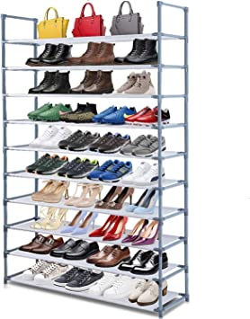 10 Tiers Shoe Storage Rack Extendable /& Stackable Organiser Stand Shelf UK
