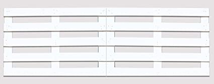 2 X Palet 120x80x3 cm para cabecero de cama grande XL (Blanco)