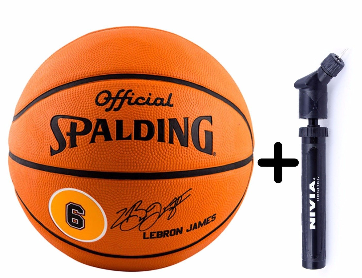 c420b5bb6c7fb Buy Spalding Basketball Lebron James Combo (Spalding Lebron James Basketball