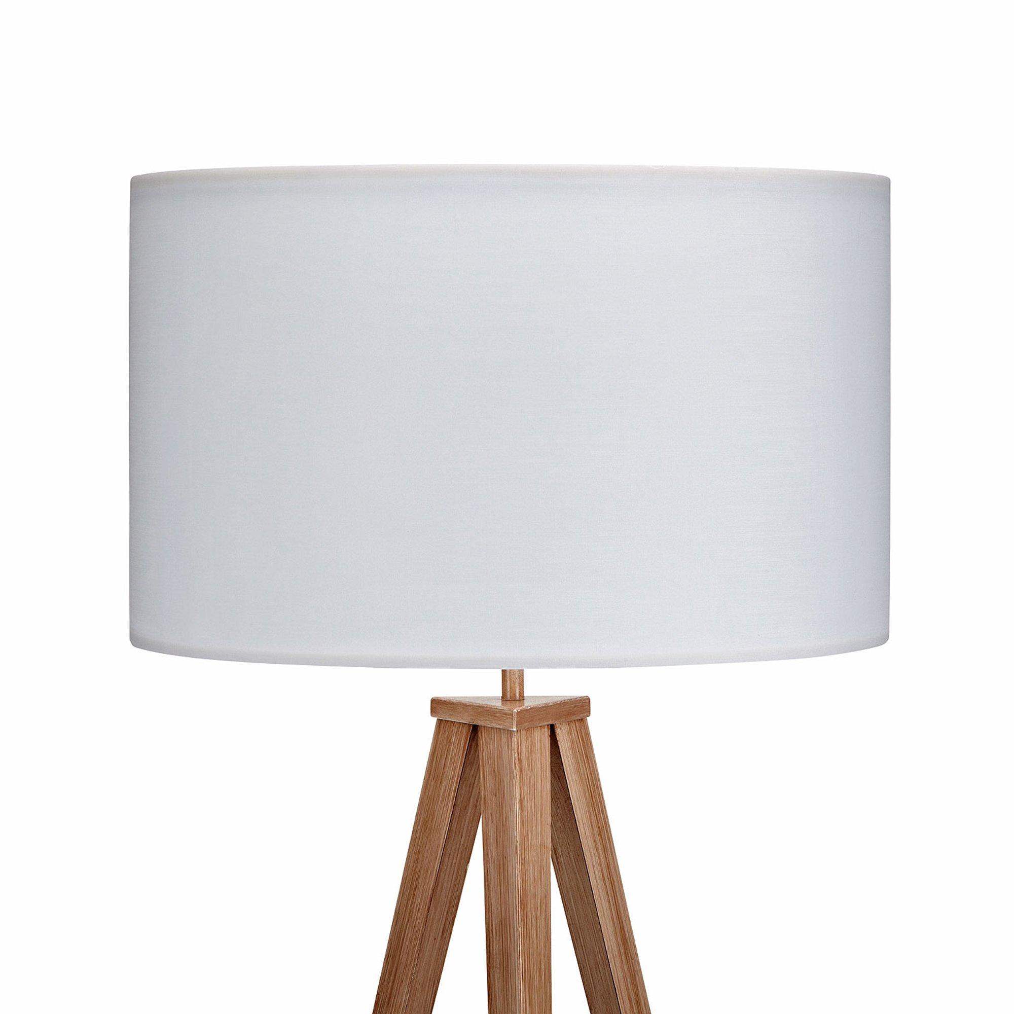 Versanora VN-L00007 Romanza Tripod Floor Lamp, White/Faux wooden leg by Versanora (Image #4)