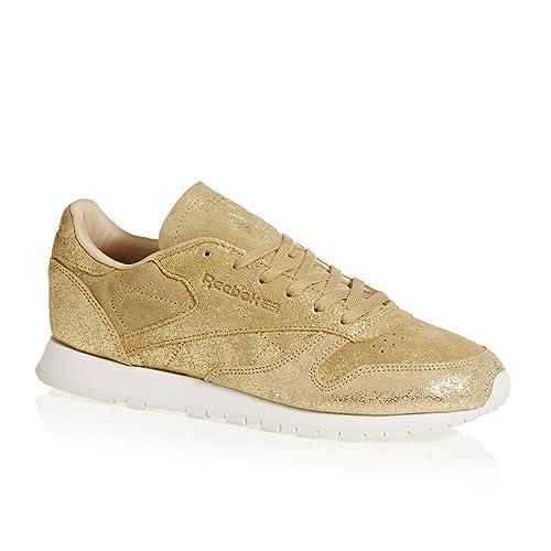 954c3c7fd6aa1 Reebok Women s CL Lthr Shimmer Fitness Shoes