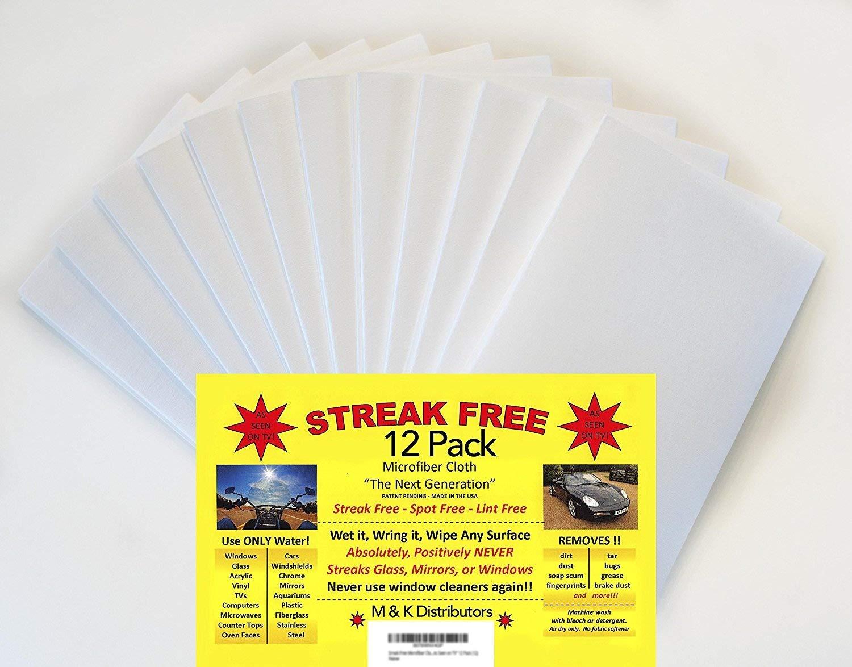 """Streak Free Microfiber Cloth """"As Seen on TV"""" 12 Pack (12)"""