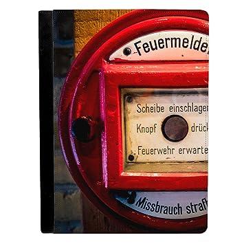 Antiguo Alemán o escandinavo detector de alarma de incendios Apple iPad Pro 12.9 inch Funda de piel funda para tablet: Amazon.es: Electrónica
