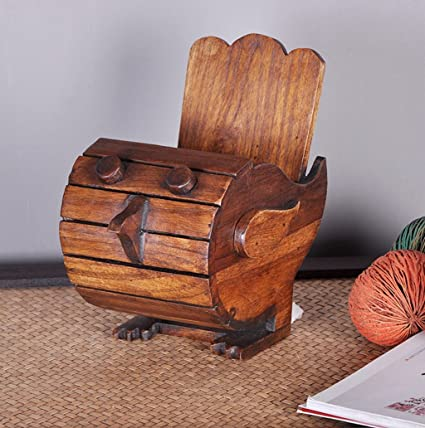 pájaro de madera de múltiples funciones de almacenamiento cajas de cartón adornos tejidos hechos a mano