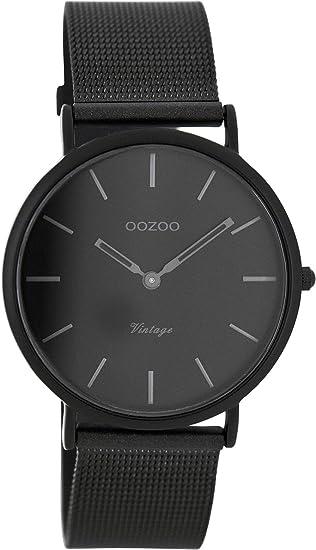 Oozoo Reloj Digital de Cuarzo para Mujer con Correa de Acero Inoxidable - C7730: Amazon.es: Relojes