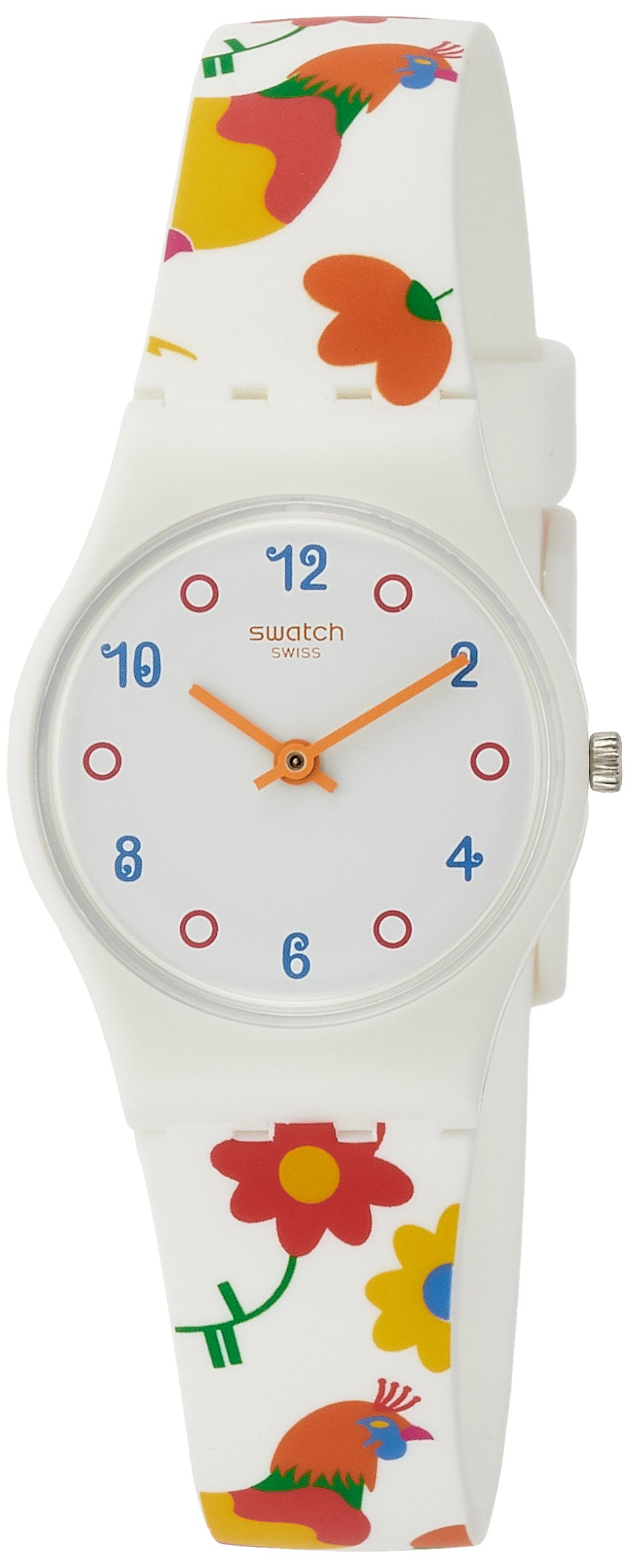 Swatch Polletto White Dial Ladies Multi-Colored