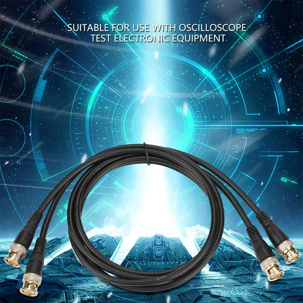 BNC Cables 2Pcs P1013 BNC Q9 Male to Male Plug Oscilloscope Test Probe Cable Lead 100cm 50ohm for Oscilloscope Test Electronic Equipment