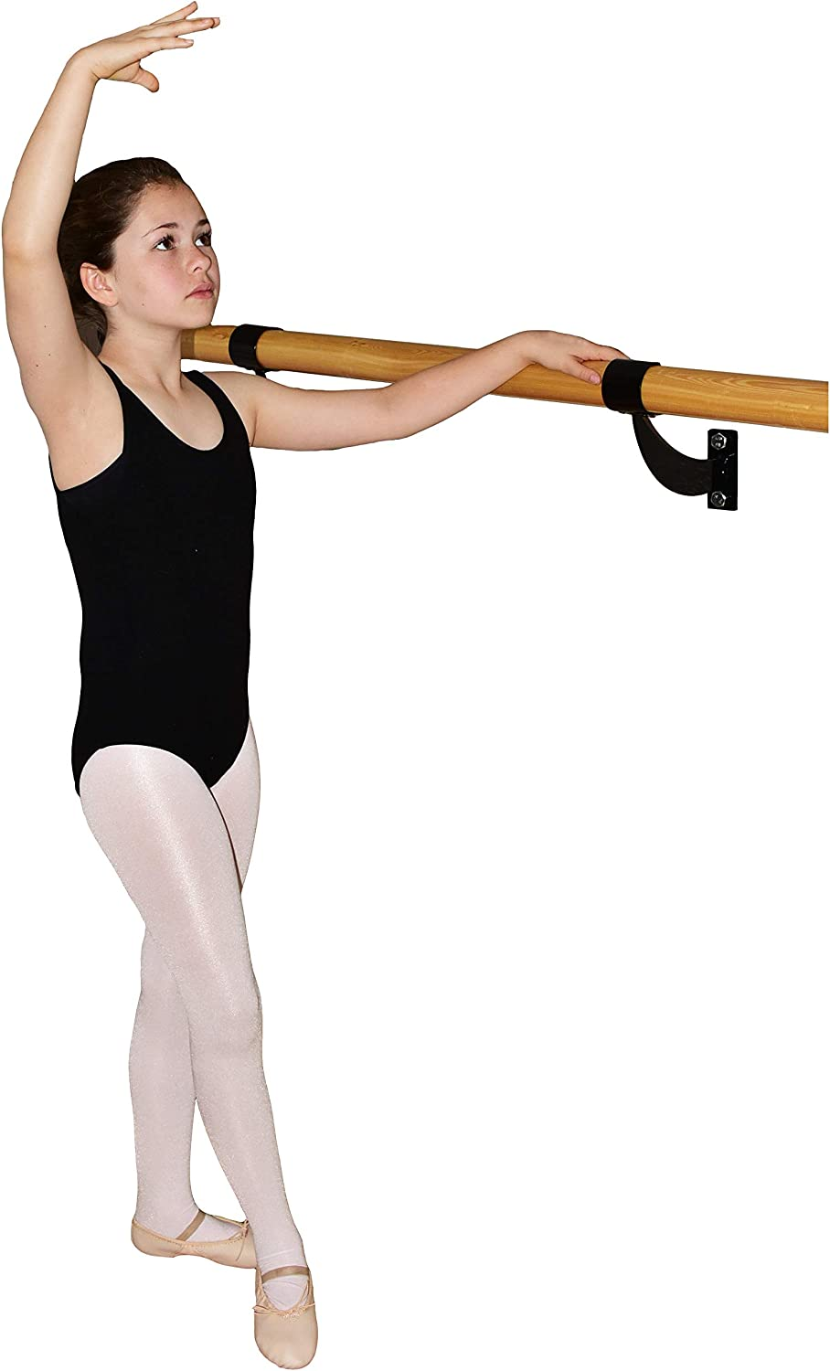 Barre Trainer 1.5 inch Single Bar Traditional Wood Fixed Wall Mount Ballet Barre