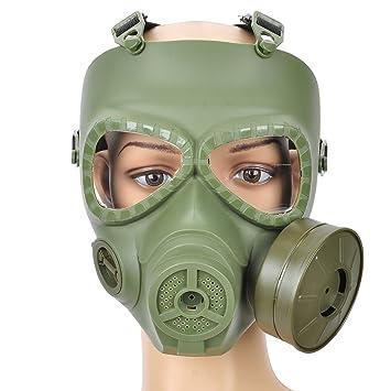Máscara de gas estilo calavera de plástico para juegos de guerra al aire libre, color