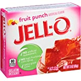 Jell-O Fruit Punch Gelatin Mix 3 Ounce Box