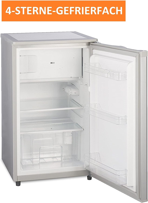 Frigorífico a + + 90L 50 cm Plata Diseño con congelador 4 ...
